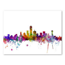 Americanflat Dallas Texas Skyline Wall Mural