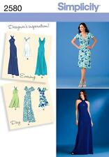 Simplicity SEWING PATTERN 2580 Misses Day or Evening Dresses 6-14 or 14-22