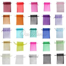 "100 Strong Organza Pouch 5""x7"" 13cmx18cm Wedding Favor Gift Jewelry Candy Bag"