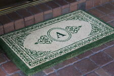 A1 Home Collections LLC Filigree Decorative Border Monogrammed Doormat