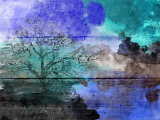 PTM Images Abstract Landscape Painting Print on Wrapped Canvas