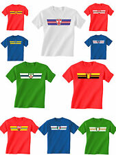 Kids T-Shirt Retro Strip EURO 2016 Football All 24 Teams *Choose Country*