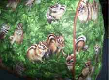 Cute Chipmunks Quilted Fabric 2-Slice or 4-Slice Toaster Cover NEW