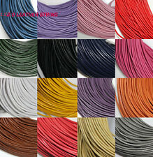 Lots 5/10M Leather Cord Necklace String Thong Durable Jewelry Making 1.5MM 2.0MM