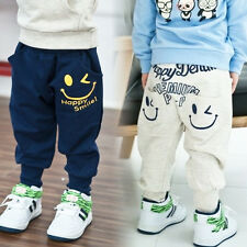 Toddlers Boys Girls Clothes Casual Harem Pants Kids Cartoon Trousers SweatPants