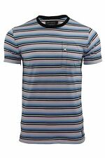 Mens T-Shirt by FCUK/French Connection Striped Spritzer