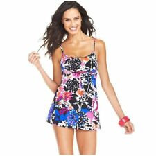 NWT Swim Solutions Floral Empire Swimdress Swimsuit Tummy Control Size 8-20