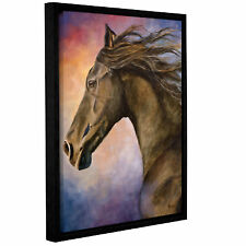 Seer by Marina Petro Floater Framed Painting Print on Gallery Wrapped Canvas