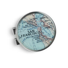 "CUSTOM Map Location - 1.5"" Cartographer Pewter Money Clip - Chart Metalworks"