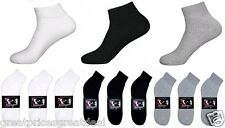 Wholesale Dozen Lot Knocker Sport Cotton Ankle Socks Grey White Black 9-11 10-13
