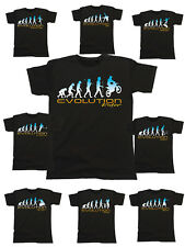 Mens EVOLUTION T-Shirt Extreme Sports/Sport *Choose Sport* Fathers Day Birthday