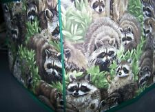 Raccoon Backyard Bandits Quilted Fabric 2-Slice or 4-Slice Toaster Cover NEW
