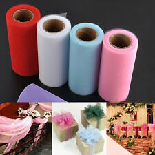 "6"" 24yd Craft DIY Mesh yarn lace fabric spool Bridal Wedding tutu Roll Decor"