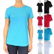 Basic Solid Plain Short Sleeve Round Crew Neck T Shirt Top Casual Cotton S M L