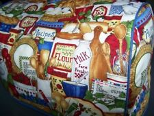 Farmhouse Kitchen Pantry Quilted Fabric 2-Slice or 4-Slice Toaster Cover NEW