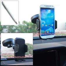 Car/SUV Windshield 360 Suction Mount Holder+Stylus Touch Pen for iPhone Mobile