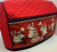 Bistro Chef Quilted Fabric 2-Slice or 4-Slice Toaster Cover NEW