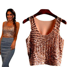 Sexy Womens Sequins Tops Loose Blouse Casual T-Shirt Short Sleeve Tops Tee Vogue