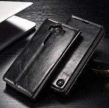 New Deluxe Magnetic Leather Case Flip Stand Card Holder Wallet Cover For LG V10