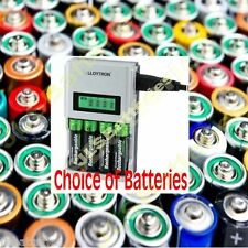 LLOYTRON 1 hour QUICK Fast LCD Battery Charger CHOICE OF BATTERIES AA or AAA
