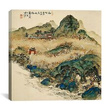 """""""Mt. Penglai (Mountain of Immortals)"""" by Tomioka Tessai Painting Print on Canvas"""