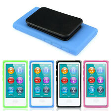 TPU Rubber Soft Case Belt Clip Skin Back Cover For iPod Nano 7 7G 7th Gen Case