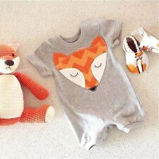 Newborn Baby Boys Girls FOX Clothes Baby grow Outfit Fancy Costume Playsuit