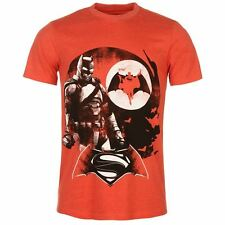 DC Comics Mens Batman Vs Superman Crew Neck T Shirt Short Sleeve Top Print