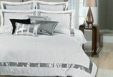 super King / Queen / king size Quilt Cover set white Silver Sequins doona Cover