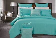 King or Queen Luxton Oliveri Quilt Cover set 3pcs / aqua green Duvet cover Set