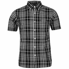 Pierre Cardin Mens Short Sleeve Check Shirt Button Fastening Top Clothing