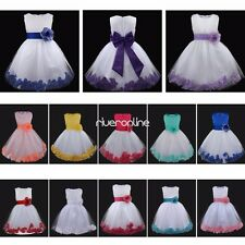 Flower Girls Dress Kids Formal Bridesmaid Princess Wedding Party Prom Ball Gown