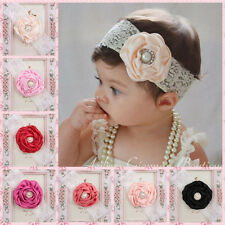 1PC Toddler Baby Girl Lace Flower Pearl Headband Hair Band Accessories Headwear