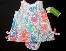 New Lilly Pulitzer BABY LILLY SHIFT DRESS 3-6 Months Let Minnow w/ Bloomers NWT