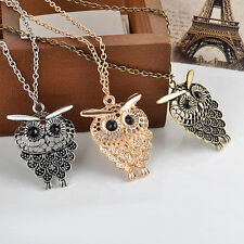 Retro Style Cute Vintage Owl Pendant Long Sweater Chain Necklace Jewelry Gift