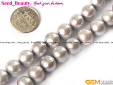 """Natural Freshwater Cultured Pearl Beads Strand 15"""" Approximate Round Ball-shaped"""