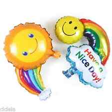 1Pcs Colorful Smile Face Rainbow Foil Ballons Birthday Party Wedding Decor Hot