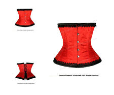 Full Steel Boned Heavy Lacing Brocade Underbust Shaper Corset #HC9965RB(BRO)