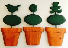 GARDEN SHED, GARAGE , WORKSHOP TOPIARY DESIGN  KEY HOOKS / HANGERS ~ HANDMADE