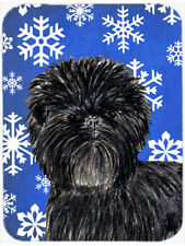 Caroline's Treasures Snowflakes Affenpinscher Glass Cutting Board