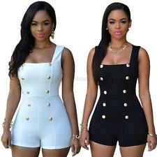 Casual Women One Piece Jumpsuit Romper Sleeveless Bodycon Playsuit Trousers S-XL