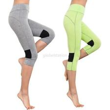 Women Capri YOGA Sport Pants Casual High Waist Cropped Leggings Fitness Trousers