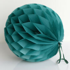 Teal color tissue paper Honeycomb - wedding party decorations
