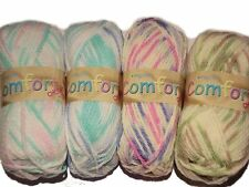 KING COLE COMFORT MULTI CHUNKY KNITTING WOOL YARN - 100g