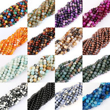 Lots 33/38/48/96X Glossy Natural Stone Gemstone Round Spacer Loose Beads Jewelry
