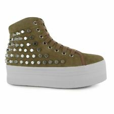 Jeffrey Campbell Womens Play Homg Studded Shoes Lace Up Ladies