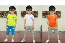 2pcs Baby Boy Kids Infant T-shirt Top Pocket+Pants Trousers Clothes Outfits Set
