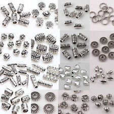 50/100pcs Silver Plated Loose Spacer Beads Charms  Jewelry Making DIY