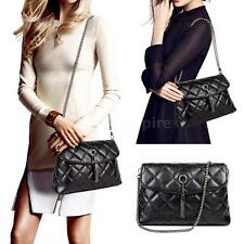 Women Leather Chain Crossbody Shoulder Messenger Bag Tote Quilted Satchel S1K1