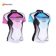 Women's Pro Team Bike Sportwear Cycling Jersey Short Sleeve Bicycle Clothing Top